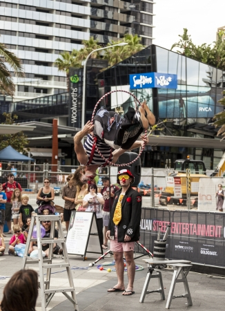 GOLD COAST, AUSTRALIA - MAR 30 An unidentified performer performs at the Australian Street Entertainment Championships.  This international street entertainment festival to be held in the heart of Surfers Paradise. Mar 30 2013 Gold Coast Australia. Stock Photo - 19276475