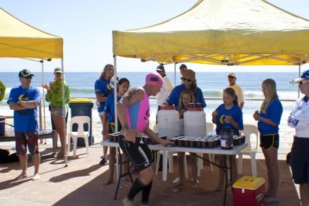 GOLD COAST, AUSTRALIA - SEPT 14 2012   Unidentified participant in the Colangatta Gold life saver competition on Sept, 14, 2012 in Gold Coast Australia, Sajtókép