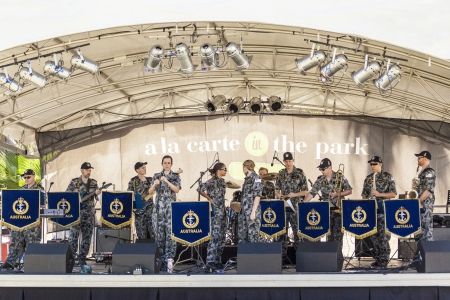 Surfers Paradise Festival 2013  Australian Royal Navy s  Big Band on stage