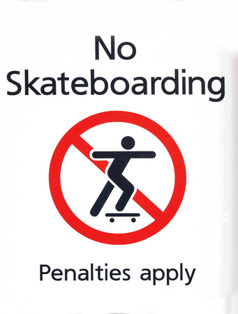 No skateboarding sign,  photo