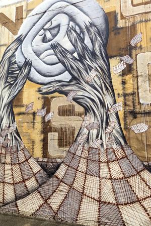 GOLD COAST- APR 6  Street art by unidentified artist  Gold Coast s graffiti management plan  recognizes the importance of street art in a vibrant urban culture - April 6 2014 in Gold Coast, Australia