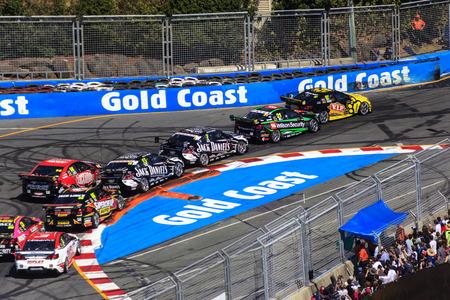 supercar: GoldCoast 600 V8 Supercar   22-24 October 2013 Car race   - Australia