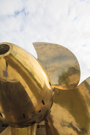millitary: Close up on a millitary ship propeller. Editorial