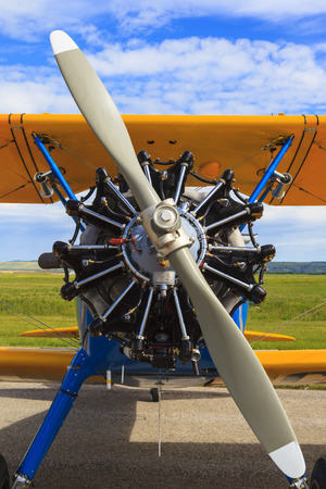 SPRINGBANK CANADA 20 JUL 2015: International Air Show and Open House for Canadian, USA and British current and historical military and civilian aircrafts. There were also numerous flights as well.