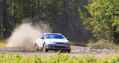 ROCKY MOUNTAIN - CANADA. 23.08.2015:Test Day Some of the best drivers from Canada are competing in the Rocky Mountain. The test held in different province of Canada's best dirt roads for motor-sport. 報道画像