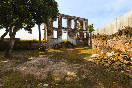 PANAMA CITY, PANAMA, 21 10 2015. Old buildings in the old part of Panama City, The city of Panama was founded on August 15, 1519 by Spanish conquistador