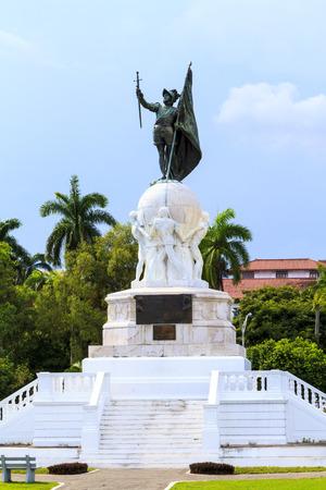 discoverer: Vasco Nunes  -  Balboa Monument at Panama City, Panama. Pacific Ocean Discoverer. Editorial