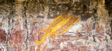 nourlangie: Aboriginal rock art at Ubirr, Kakadu National Park, Northern Territory, Australia Editorial