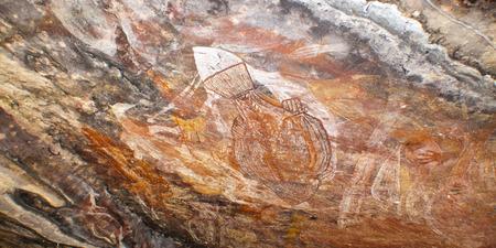 kakadu: Aboriginal rock art at Ubirr, Kakadu National Park, Northern Territory, Australia Editorial
