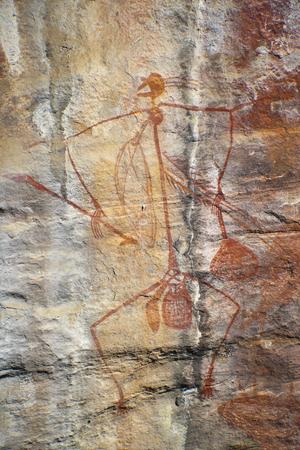 Aboriginal rock art at Ubirr, Kakadu National Park, Northern Territory, Australia Editorial