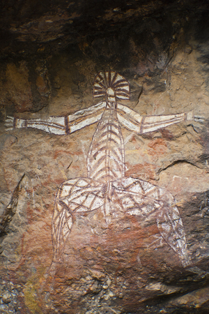 kakadu: Aboriginal Rock Art - Kakadu National Park, Australia Stock Photo