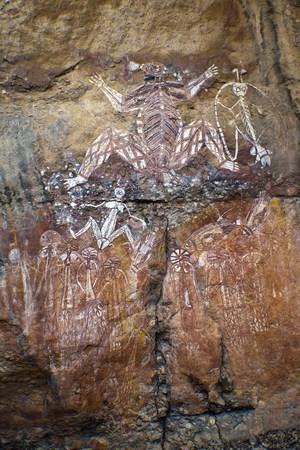 Aboriginal Rock Art - Kakadu National Park, Australia Stock Photo