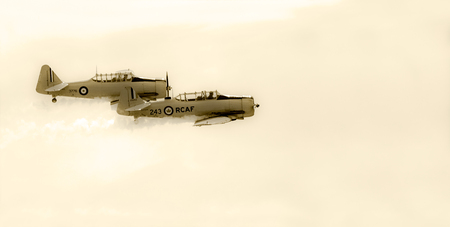 LETHBRIDGE CANADA 25 JUN 2015: International Air Show and Open House for Canadian, USA and British current and historical military and civilian aircrafts. There were also numerous flights as well.