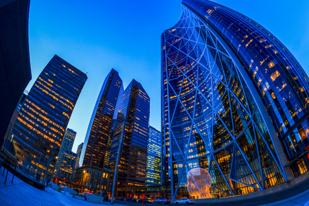 elite: CALGARY, CANADA - MAR 5 2016: The Bow Tower in Calgary, Alberta Canada. The Bow is the newest and tallest skyscraper in Canada outside Toronto and home to Encana and Cenovus.