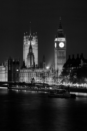 brit: Big Ben and the Parliament House London England. Stock Photo