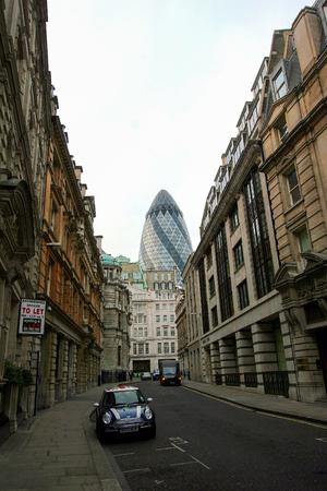 awarded: The Gherkin building in London, viewed on September 24, 2009. The building was awarded a Royal Institute of British Architects Stirling Prize in 2004. Editorial