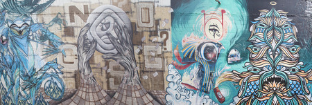 recognizes: GOLD COAST- APR 6: Street art by unidentified artist. Gold Coasts graffiti management plan recognizes the importance of street art in a vibrant urban culture - April 6 2014 in Gold Coast, Australia