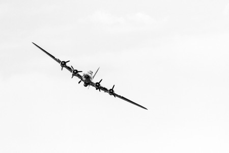 professionalism: LETHBRIDGE CANADA - JUN 25, 2015: The B-17 Demonstration Team demonstrate the skill, professionalism, and teamwork of the USAF Forces personnel during Wings Over Lethbridge Air Show. Editorial