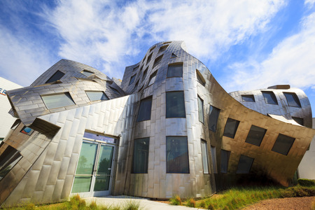 LAS VEGAS JUN 29 2015: The innovative, landmark Cleveland Clinic building designed by modernist architect Frank Gehry sets a high standard about 40 million people visiting the city each year.