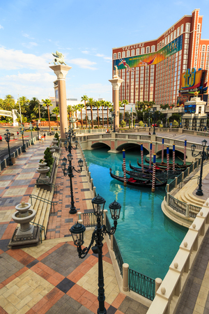a mirage: LAS VEGAS, NEVADA USA - MAY 29 2015: The Mirage hotel is a luxurious hotel  casino famous with its volcano street show. The Mirage has 3044 rooms the resort built by developer Steve Wynn