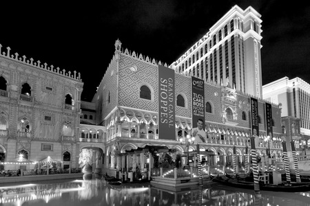 man made structure: LAS VEGAS USA JULY 7 2015: The Venetian Resort Hotel & Casino The resort opened on May 3, 1999 with flutter of white doves, sounding trumpets, singing gondoliers and actress Sophia Loren.