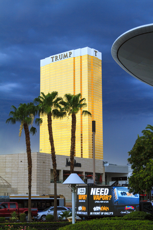 timeshare: LAS VEGAS, NEVADA - JULY 6, 2015 - The Trump International Hotel in Las Vegas. Trump Hotel Las Vegas is a 64 story luxury hotel, condominium and timeshare near the famous Strip. Editorial