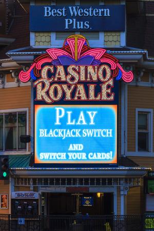 LAS VEGAS NV - JUNE 05 2015 Hotel Casino Royale  in Las Vegas, USA. Casino Royale is the hotel and casino located on the Las Vegas Strip Boulevard. Opened 1979 as Nob Hill. Editorial