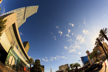 aria: LAS VEGAS, NEVADA - JUL 8, 2015: Aria Hotels at City Center, urban complex on 76 acres (31 ha) located on the Las Vegas Strip with different hotels, casinos and residence.