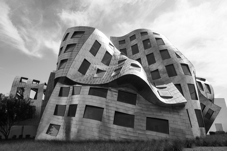 modernist: LAS VEGAS JUN 29 2015: The innovative, landmark Cleveland Clinic building designed by modernist architect Frank Gehry sets a high standard about 40 million people visiting the city each year.