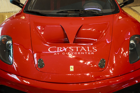crystall: LAS VEGAS, USA - JULY 8 2015: Ferrari F430 GT from Dream racing at Crystall mall on July 8, 2015 in Las Vegas, USA. Dream Racing is a five-star racing and driving experience in Las Vegas. Editorial