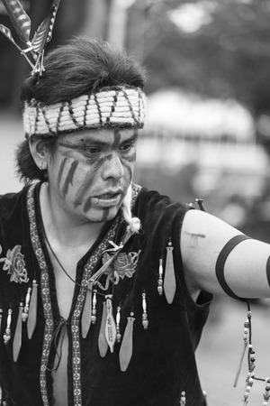 heartfelt: VICTORIA CANADA JUN 18 2016: First Nation (Native) dancers performing at the Victoria Aboriginal Cultural Festival. Spectacular performances at the Royal BC Museum in the heart of downtown Victoria.