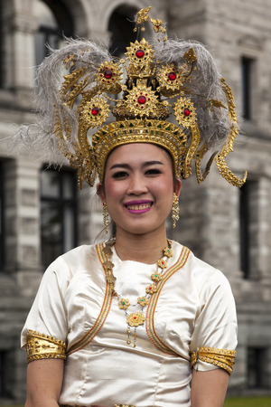 victoria bc: VICTORIA BC CANADA JULY 12 2016: Amazing Thailand in Victoria, BC at the Parliament Building. Traditional dances, classical music and Thai fashion show. Presented by the Royal Thai Consulate.