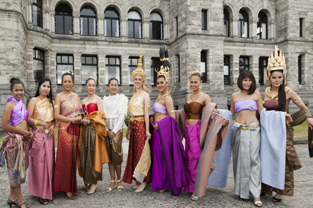 most creative: VICTORIA BC CANADA JULY 12 2016: Amazing Thailand in Victoria, BC at the Parliament Building. Traditional dances, classical music and Thai fashion show. Presented by the Royal Thai Consulate.