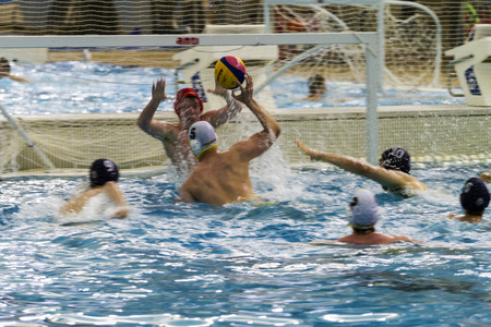 CALGARY, CANADA - MAY 29 2015: Calgary Torpedoes versus Mavericks-playing for the Canadian National Finals at Calgary Talisman Center. The teams are one of the best in Canada Boys age 16.
