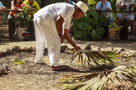 COSTA MAYA MEXICO Jan 29 2016: Mayan Home In The Yucatan The.. Stock on