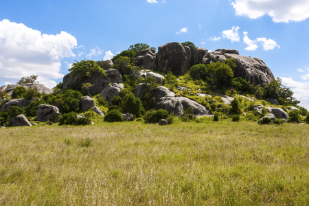 Landscape of a Rocky outcrop Tanzania Africa Stock Photo
