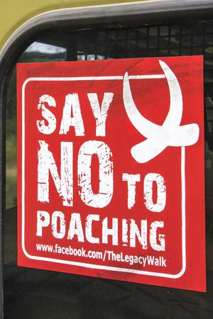 poaching: No Poaching Sign Stock Photo