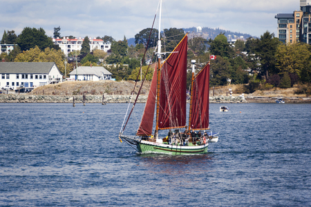 expositor: VICTORIA CANADA -SEPT 4 2016: Annual Victoria Classic Boat Festival attract many owners and visitors from Canada, USA. There are many crafts on display and sailing on the last day tops the event..