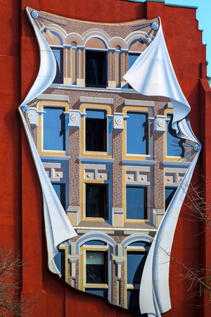 redbrick: TORONTO CANADA 5.FEB. 2016:The Flatiron (Gooderham) Building in Toronto Downtown The red-brick Gooderham Building is a historic landmark located on the eastern edge of the citys Financial District
