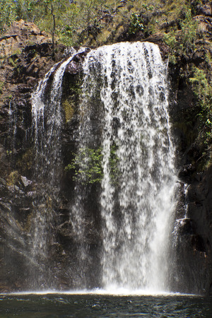 north cascade national park: The beautiful Florence Falls in Litchfield National Park, with cool swimming hole at base. Northern Territory, Australia Stock Photo