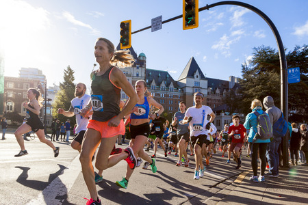 Victoria Canada Apr 30 17: TC10K is Victorias largest, popular run of the year. The run  attracts over 10,000 from all around the country. Number of top elites compete among the amateur runners. Editorial