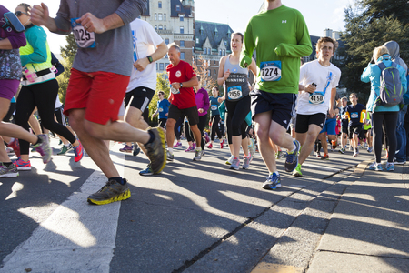 Victoria Canada Apr 30 17: TC10K is Victoria's largest, popular run of the year. The run  attracts over 10,000 from all around the country. Number of top elites compete among the amateur runners. Sajtókép