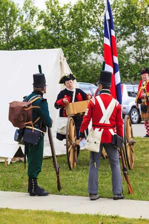 Military Museum organized Summer Skirmish event where an unidentified soldier is seen in a historical Reenactment Battle.