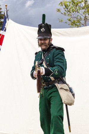 CALGARY CANADA JUN 13 2015:  The Military Museum organized Editorial