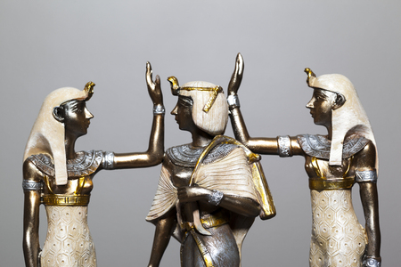 Souvenir sculpture of the Egyptian Queen of Pharaoh. These illustrative copies are for sale.