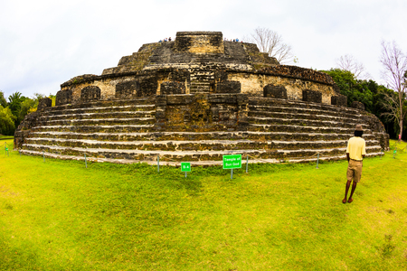 BELIZE - JAN 26 2016: Altun Ha Mayan Ruins in Belize was once the capital of the former British Honduras