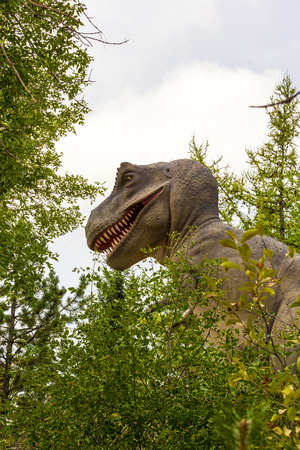 CALGARY, CANADA - 16, 2014: The Calgary ZOO exhibition of Prehistoric Park attract young and old to Imagine what it would be like back in Cretaceous Period (millions of years ago). Editorial
