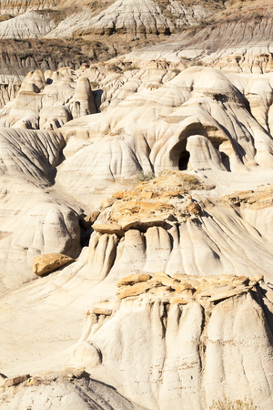 Drumheller badlands at the Dinosaur Provincial Park in Alberta, where rich deposits