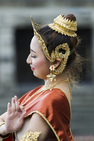 VICTORIA BC CANADA JULY 12 2016: Amazing Thailand in Victoria, BC at the Parliament Building. Traditional dances, classical music and Thai fashion show. Presented by the Royal Thai Consulate.