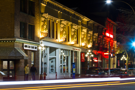 VICTORIA, BC, CANADA - NOV 24 2016: Victorias charm and beauty has a lot to offer for any world traveler.